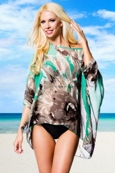 Tunika Blumenmeer Bikini